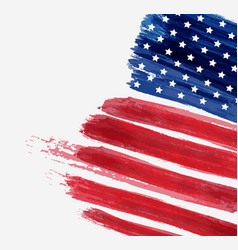 Usa abstract flag brushed background abstract vector