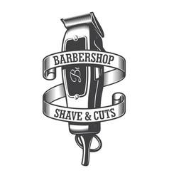 Vintage monochrome hairdresser salon logo vector