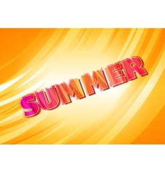 Warm yellow card with bright summer lettering vector image