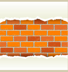 White torn paper brickwork background vector