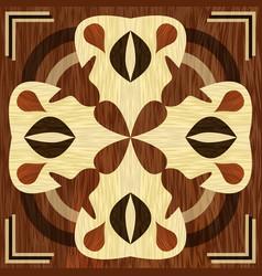 wooden inlay light and dark wood patterns veneer vector image