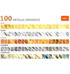 hundred metal gradients vector image vector image