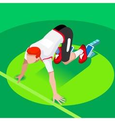 Running Starting Line 2016 Summer Games 3D vector image