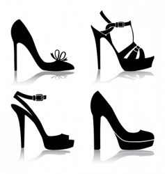 shoes collection vector image vector image