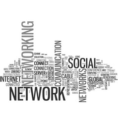 networks word cloud concept vector image vector image
