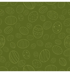 The pattern of Easter eggs vector image