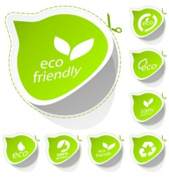 eco sticker set vector image