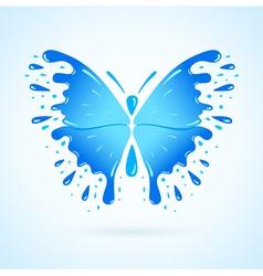 butterfly water aqua blue splash drops vector image