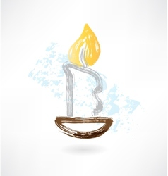candle grunge icon vector image