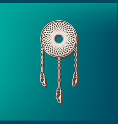 dream catcher sign icon printed at 3d on vector image
