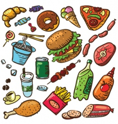 food set vector image