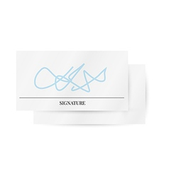 paper with signature vector image vector image
