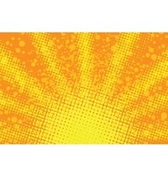 Sunrise pop art retro background vector image
