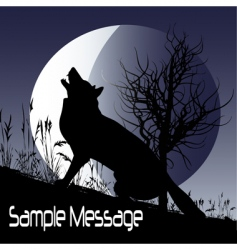 wolf moon vector image vector image