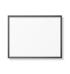 3d realistic horizontal black wooden simple vector image