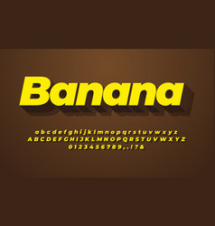 3d yellow and chocolate text effect or font vector