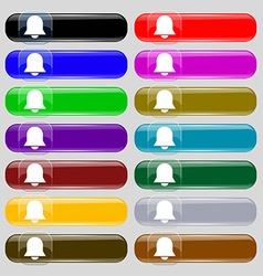 Alarm bell icon sign Set from fourteen vector image