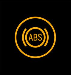 Anti braking abs button logo system lock braking vector