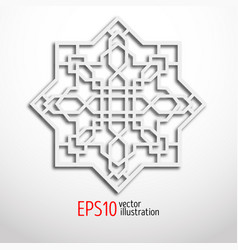 Arabesque design in 3d eastern pattern sacral vector