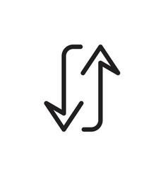 arrow transfer symbol icon vector image