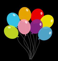 balloon set bunch balloons colorful vector image