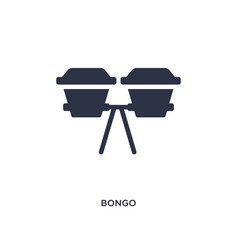 Bongo icon on white background simple element vector