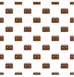 boombox pattern seamless vector image