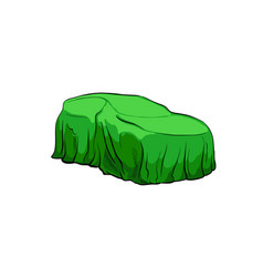 Car presentation of a new model is covered vector