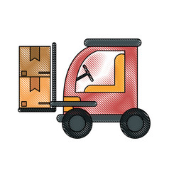 cardboard box industry icon image vector image