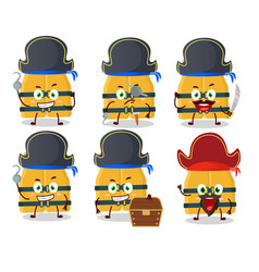 Cartoon character life vest with various vector