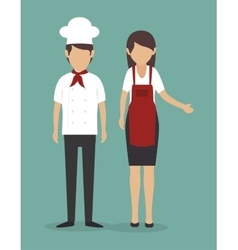 Chef kitchen design vector