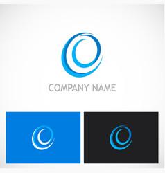 circle abstract curve logo vector image