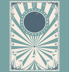 Circus old blue poster vector