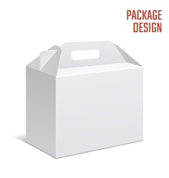 Clear Gift Carton Box vector image