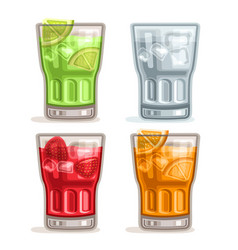 colorful drinks vector image