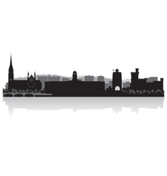 Cork city skyline silhouette vector image