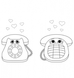 desktop phones vector image
