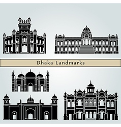 Dhaka landmarks and monuments vector