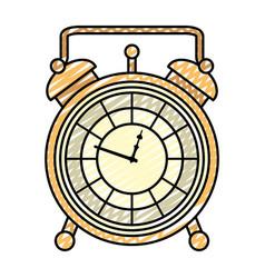 Doodle luxury desk clock object design vector