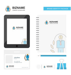 employee business logo tab app diary pvc employee vector image