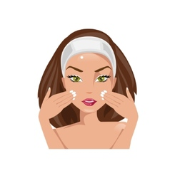 Facial massage vector image