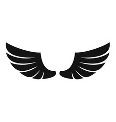 Feather wings icon simple style vector