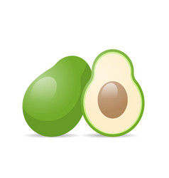 fresh juicy avocado icon tasty ripe fruit isolated vector image