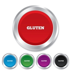 Gluten free sign icon No gluten symbol vector