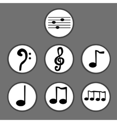 Hand drawn set of musical notes vector