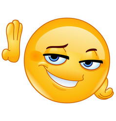 hey good lookin emoticon vector image