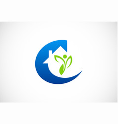 home ecology environment logo vector image