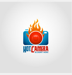 hot camera - photography logo vector image