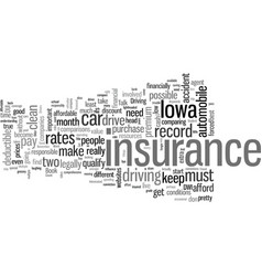 how to get affordable car insurance in iowa vector image