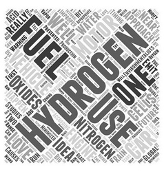 Hydrogen as Fuel for Motor Vehicles Word Cloud vector